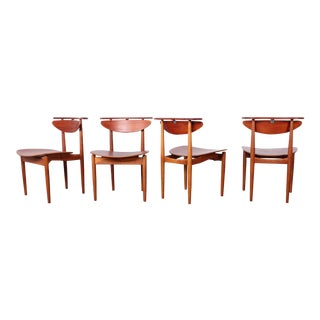 Rare Set of Four Chairs by Finn Juhl For Sale
