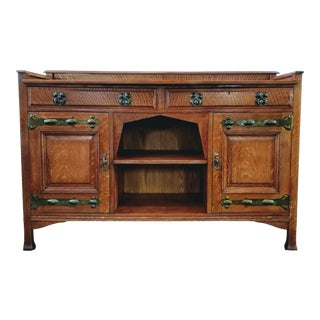 Sideboard/Buffet /Mission Oak/ Arts & Crafts Shapland & Petter R2121 Designed by William Cowie For Sale