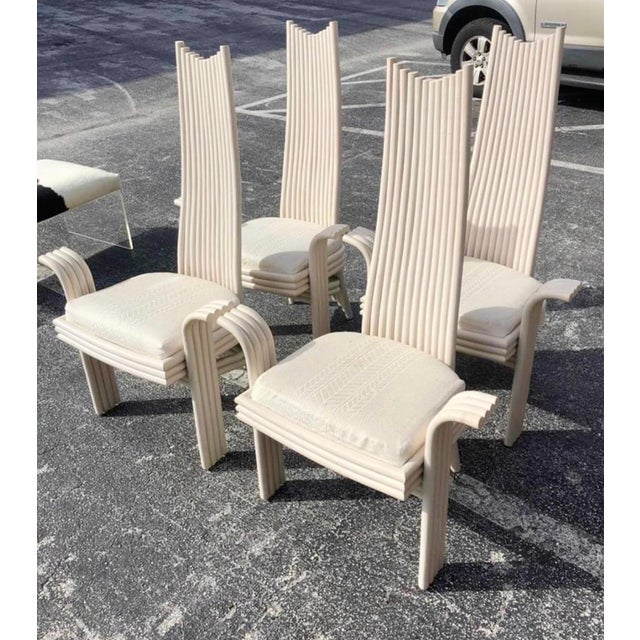 Vintage Coastal Pretzel Rattan Dining Chairs After McGuire For Sale - Image 11 of 11