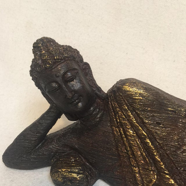 "Such a lovely replica of an antique wood carving. I love the repose of this Asian figure. Just says ""don't worry, be..."