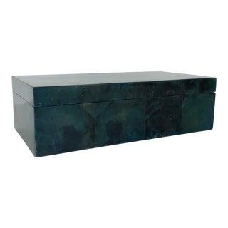 Made Goods Modern Blue Pen Shell Palma Decorative Box For Sale
