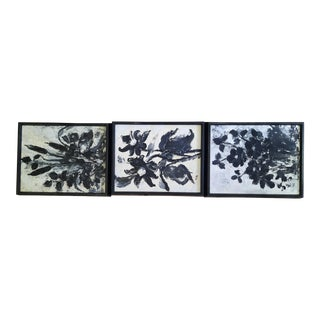 Zaza Meuli Floral Paintings - Set of 3 For Sale