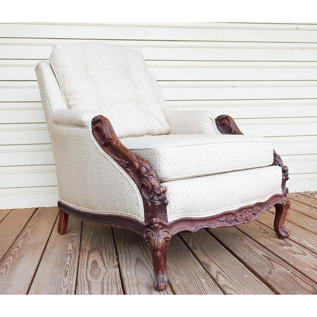 Vintage Rococo Carved Bergere Chair For Sale - Image 13 of 13
