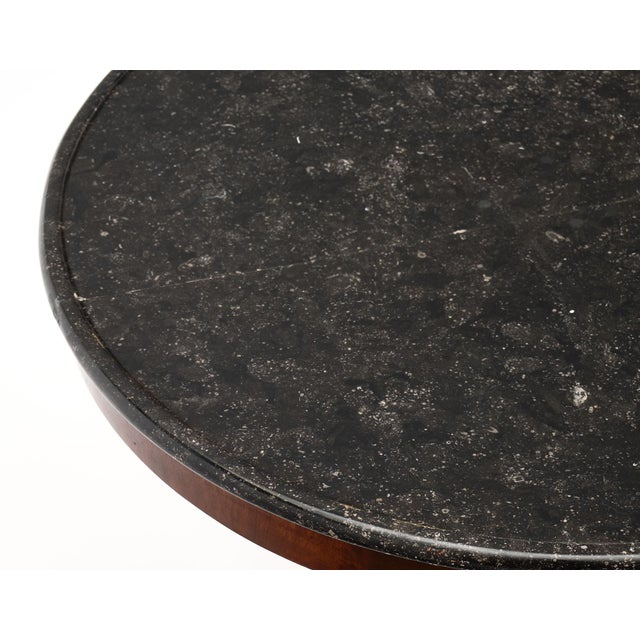 Gray Marble Topped Empire Style Gueridon For Sale In Austin - Image 6 of 10