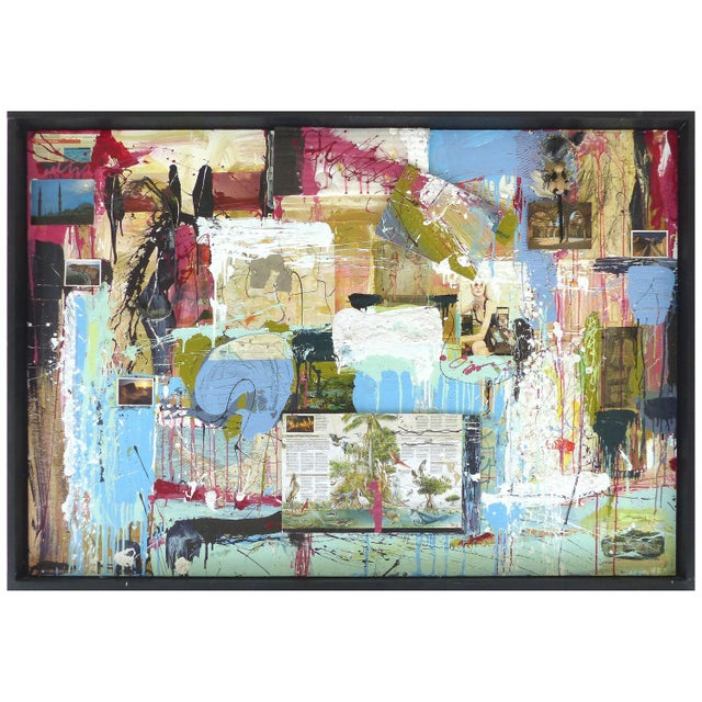 """William P. Montgomery Abstract Mixed Media Painting """"Swamp Talk 1/2"""", 2015 For Sale - Image 13 of 13"""
