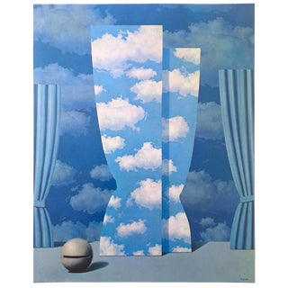 """Rene Magritte Vintage 1974 Surrealist Authentic Lithograph Print """" the Wasted Effort - La Peine Perdue """" 1962 For Sale"""