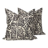 Image of Tribal Kasai Embroidered Pillows, a Pair For Sale