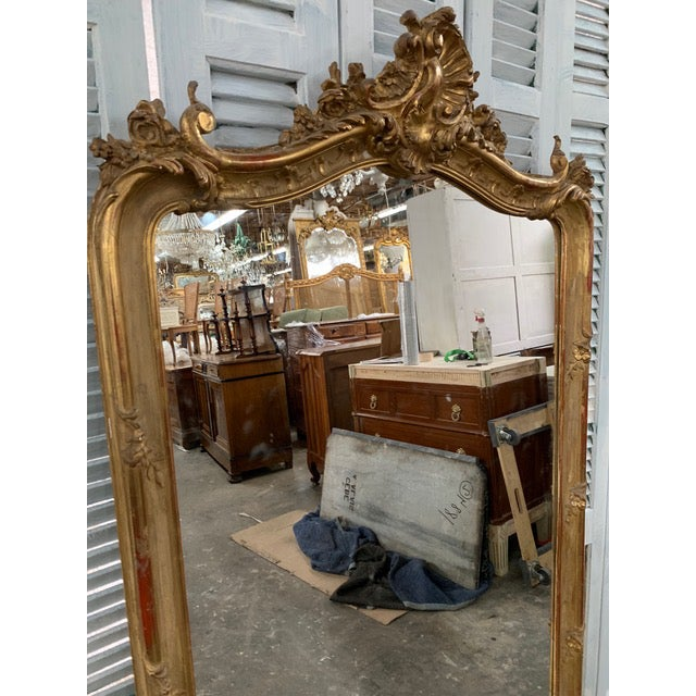 18th Century Original Grand Louis Philippe Style Mirror For Sale - Image 4 of 10