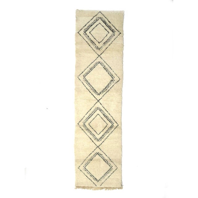 Moroccan Beni Ourain Runner Rug - 2′9″ × 10′7″ For Sale - Image 9 of 9