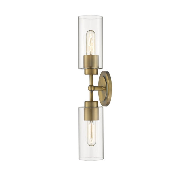Brooklyn 2 Light Sconce/Vanity, Antique Brass For Sale - Image 4 of 5