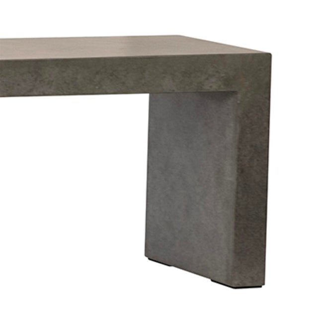 Modern style waterfall design lightweight cement resin bench. Perfect for outdoor or indoor spaces. Each may vary slightly...