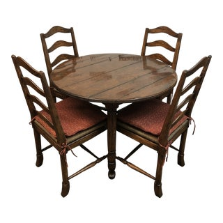 Chaddock Style Distressed Dining Set For Sale