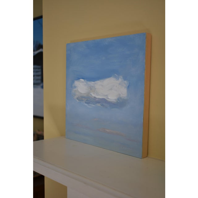 Wood Cloud Study 'Float' Contemporary Painting by Stephen Remick For Sale - Image 7 of 8