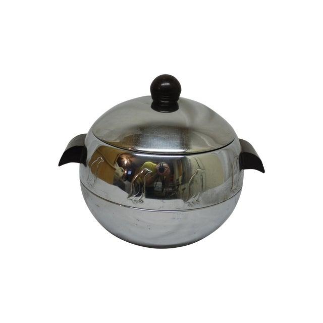 Antique 1930s Penguin-Motif Chrome Ice Bucket For Sale