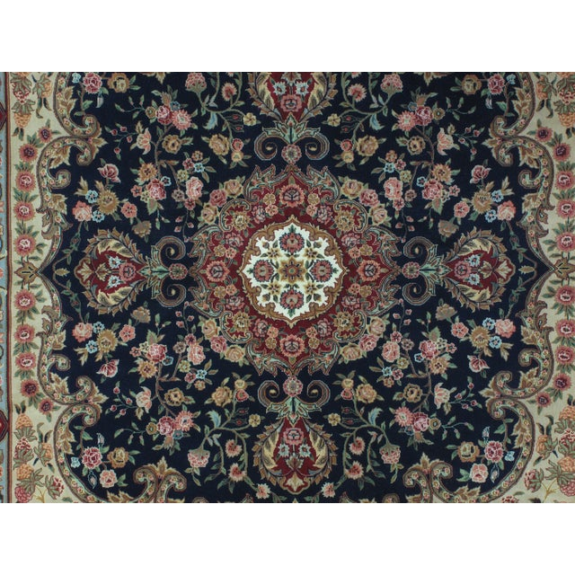 Square Sino Persian Carpet - 8′ × 8′1″ - Image 5 of 8