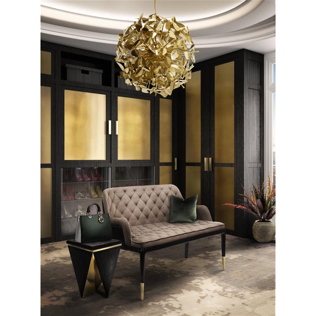Gold Prisma Stool From Covet Paris For Sale - Image 8 of 9