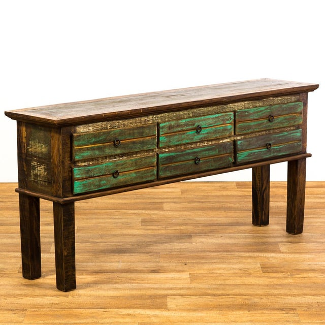 Antique Peroba Wood Console Table - Image 4 of 5