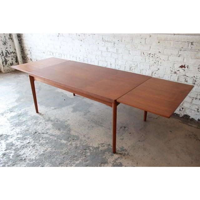 Henning Kjaernulf for Vejle Stole Danish Modern Teak Extension Dining Table - Image 3 of 10