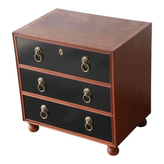 Three-Drawer Chest or Nightstand by Baker Furniture For Sale