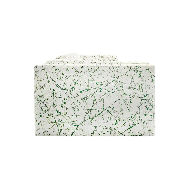 Mid-Century Modern 1970s Harvey Probber Sofa in Green Splatter Upholstery For Sale - Image 3 of 5