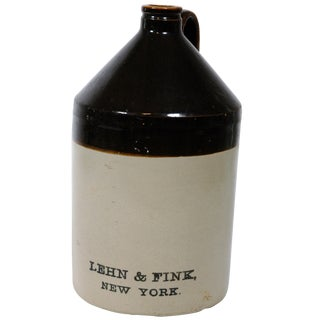 Lehn & Fink Crock Earthenware Jug