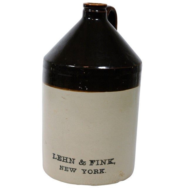 Lehn & Fink Crock Earthenware Jug For Sale