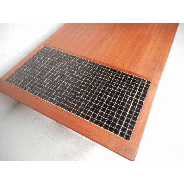 1970s Vintage Modern Walnut Coffee Table For Sale - Image 5 of 12