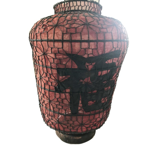 "1910s Old Chinese Red Lanterns 28"" H For Sale - Image 5 of 7"