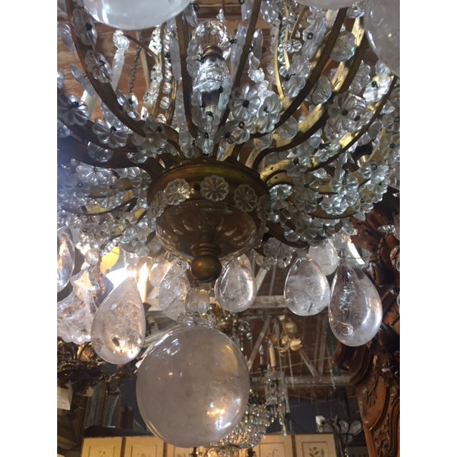 1900s Antique French Rock Crystal Dore Bronze Chandelier For Sale In Los  Angeles - Image 6 - 1900s Antique French Rock Crystal Dore Bronze Chandelier Chairish