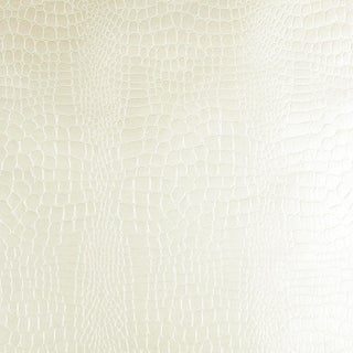 Sample - Schumacher Crocodile Wallpaper in White Preview