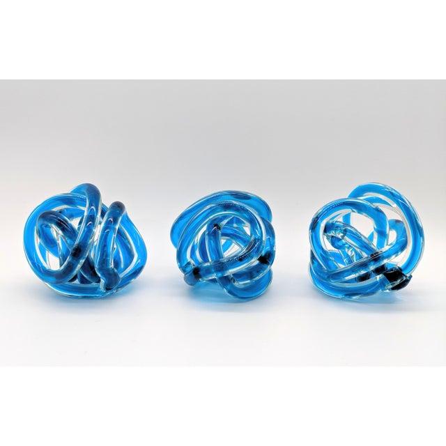 Blue Contemporary Cobalt Blue Knots - Set of 3 For Sale - Image 8 of 9