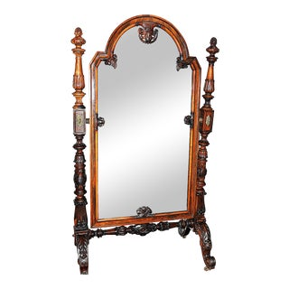 19th Century Rosewood Cheval Mirror For Sale