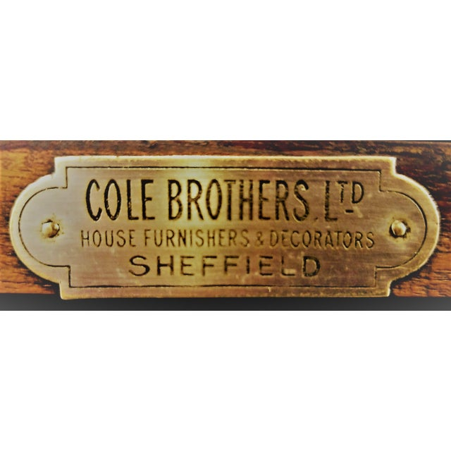 1898-1920 Cole Brothers Ltd. England Chippendale Revival Mahogany Sideboard For Sale - Image 11 of 13