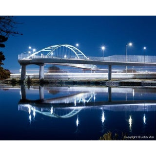 "Contemporary Night Photograph ""Overpass 1"" by John Vias For Sale"