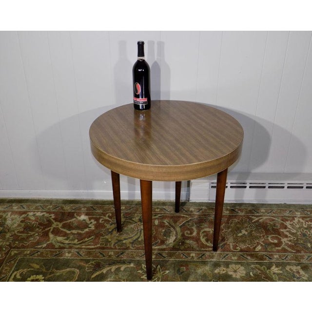 Thonet 1960's Vintage Thonet Round Side Table For Sale - Image 4 of 13