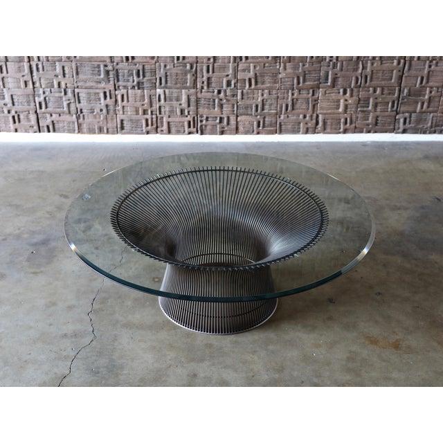 1960s Vintage Warren Platner for Knoll Bronze Coffee Table For Sale - Image 12 of 12