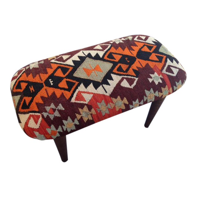 Kilim Covered Bench For Sale