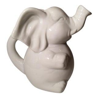 Ceramic White Elephant Creamer For Sale
