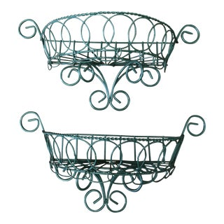 Iron French Garden Wall Pockets For Sale