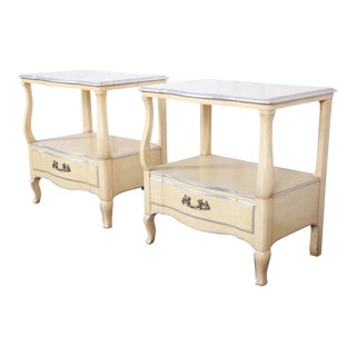 John Widdicomb French Provincial Louis XV Style Nightstands - a Pair For Sale