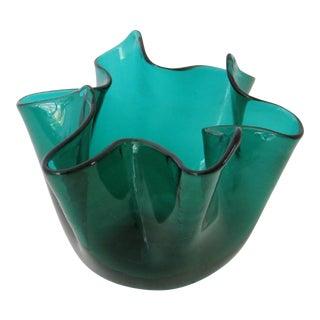 Venini Fazzoletto Vase For Sale