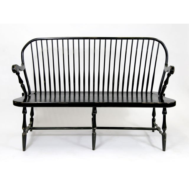 Traditional Windsor Style Amish Bench - Image 3 of 11