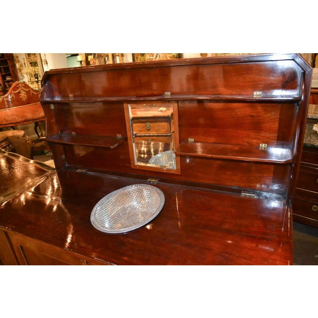 Brown Very Fine English Inlaid Server / Bar For Sale - Image 8 of 10