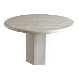 Travertine Centre Table, Circa 1985 For Sale