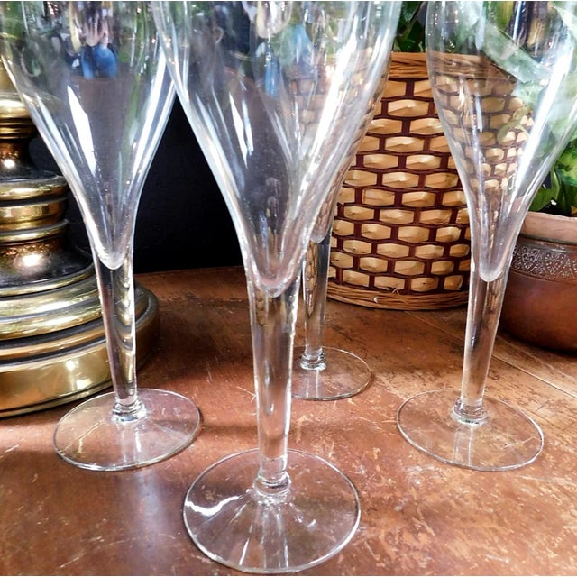 1980s Fluted Spritzer Glasses - Set of 4 For Sale - Image 5 of 7