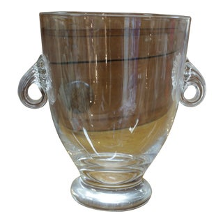 Late 20th Century Vintage Unmarked Crystal Urn For Sale
