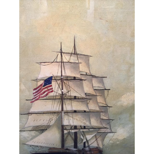 Vintage American Sailboat Painting - Image 8 of 8