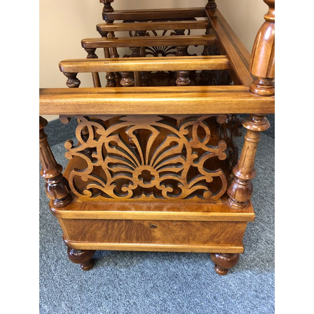 Mobili Burl Canterbury and Console With Carved Fretwork For Sale - Image 11 of 12