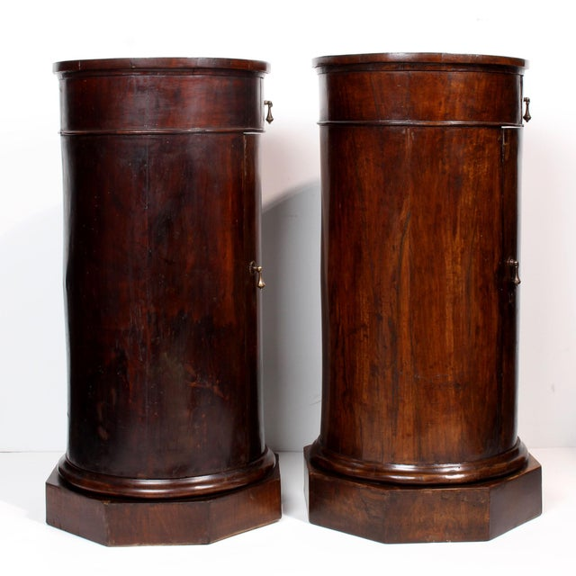 19th C. Italian Column Pedestal Cabinets - a Pair For Sale - Image 4 of 12