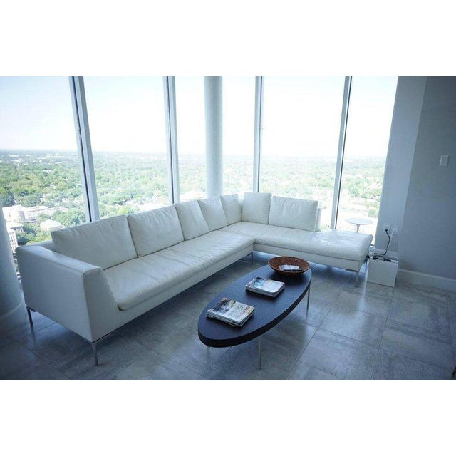 B & B Lucrezia Sectional Sofa in White Leather For Sale - Image 9 of 11